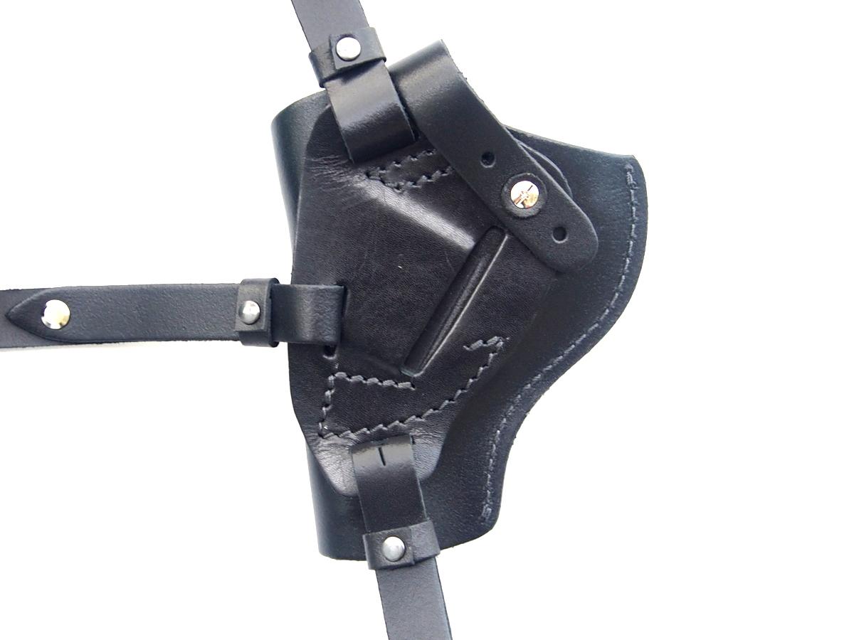 FONDINA IN PELLE A TRACOLLA VERTICALE utilizzato per revolver telaio centrale