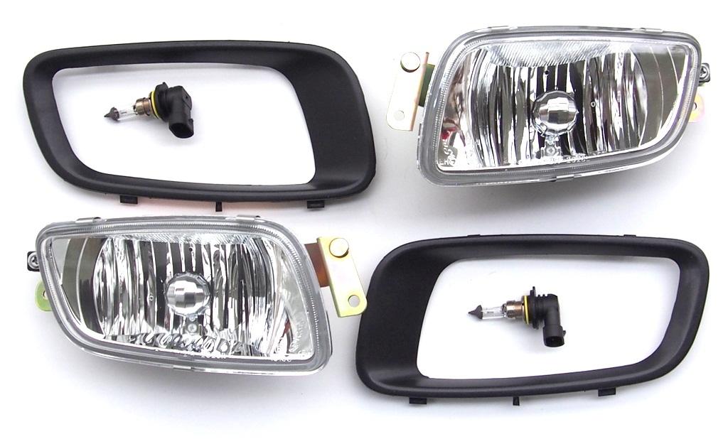 Left//Right Fog Light Trim Lamp Bezels Set For Mitsubishi Pajero V73 2000-2003